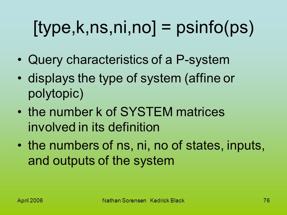 [type,k,ns,ni,no] = psinfo(ps)
